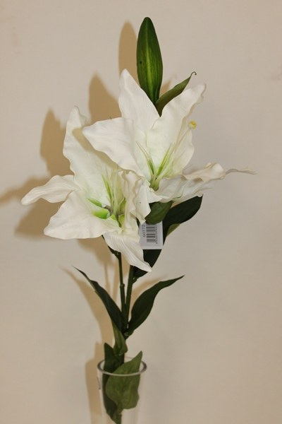 White artificial lily flower-78cm