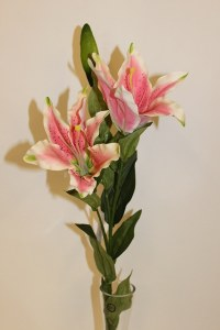Pale pink artificial lily stem-78cm