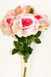 Hot pink large rose bush x 5 stems 50cm