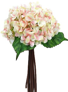 Plae pink Hydrangea bundle x 12 stems x 35cm