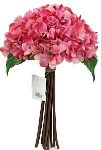 Pink Hydrangea bundle x 12 stems 35cm