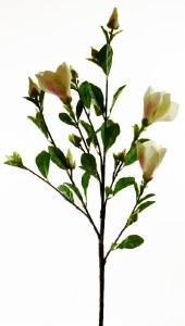 Magnolia Artificial Flower Stem White