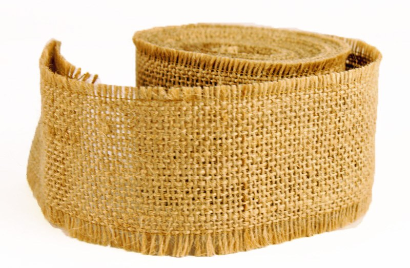 Hessian Burlap Ribbon 5cm x 5m - Natural