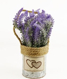 Artificial Lavender Plant With Rope Handle 28cm