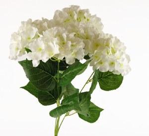 Artificial Hydrangea Bunch x 5 Stems- 49cm - White