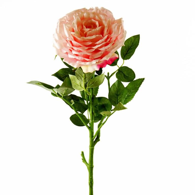 Artificial Rose Single Long Stem - 65cm - Pale Pink