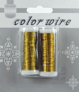 Gold Florist Wire x 2 15M