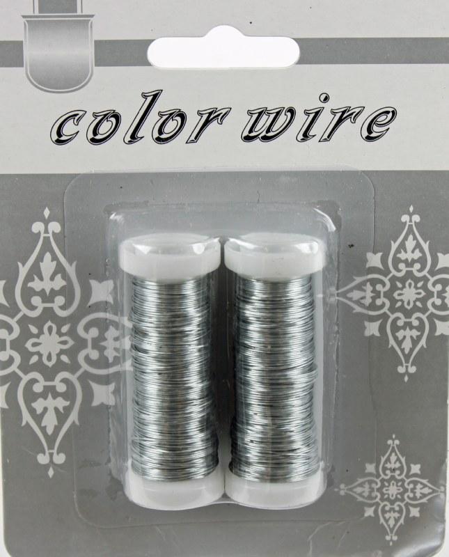 Silver Florist Wire x 2 15M