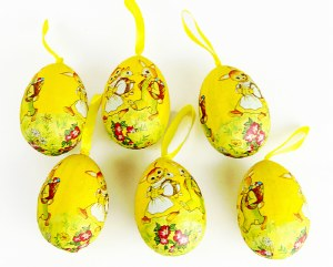 Decorative Hanging Easter Eggs x 6pcs