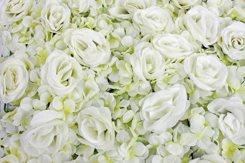 """Hydrangea & Rose Flower Wall 23"""" x 16"""" approx"""