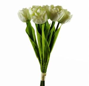 Artificial Tulip Bundle Pale Green x 6