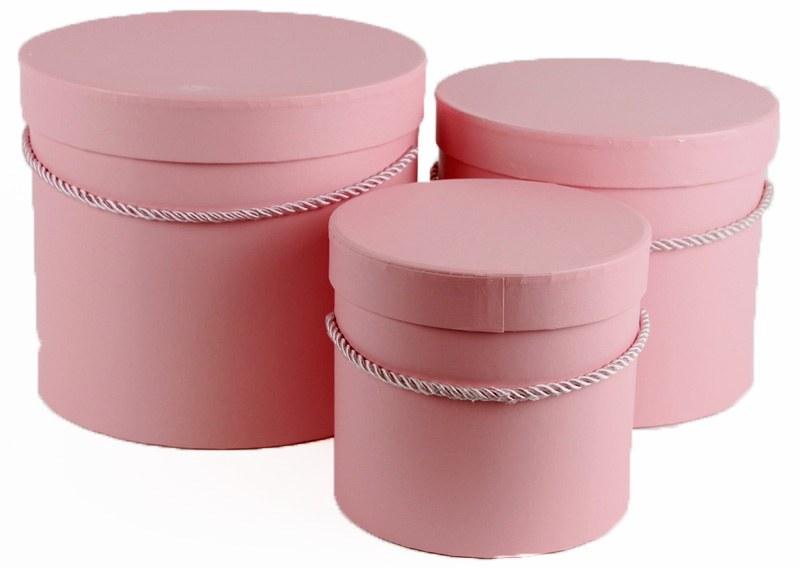 Florist Hat Box x 3 Pale Pink