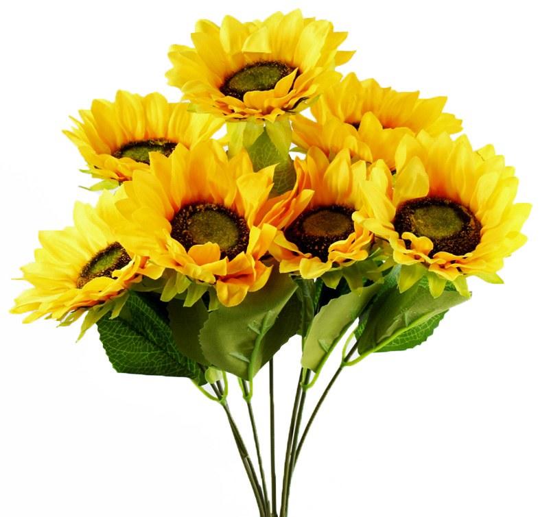 Artificial Sunflower Bunch x 7