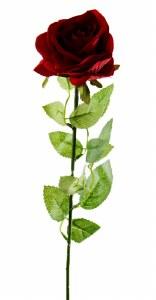 Artificial Velvet Red Rose