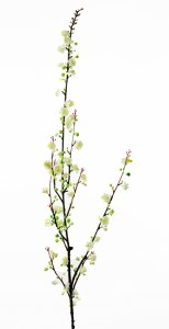 Mini Artificial Blossom Stem White