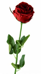 Artificial Single Stem Red Rose 56cm