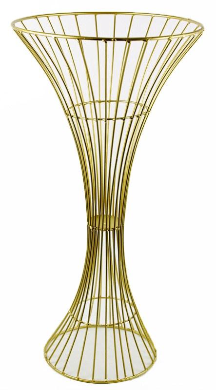 Metal Florist Urn 59cm Gold