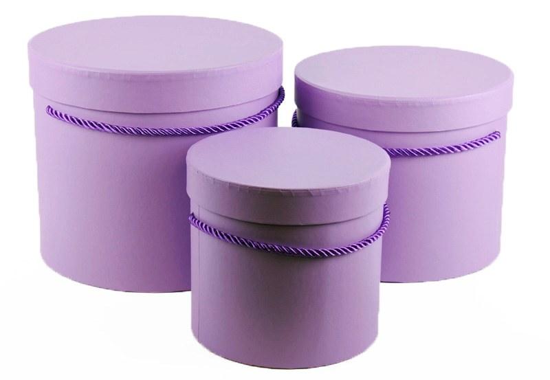 Florist Hat Box x 3 Lilac