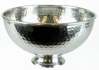 Metal Urn Silver 25cm