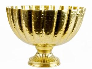 Metal Urn Vase Gold 25cm