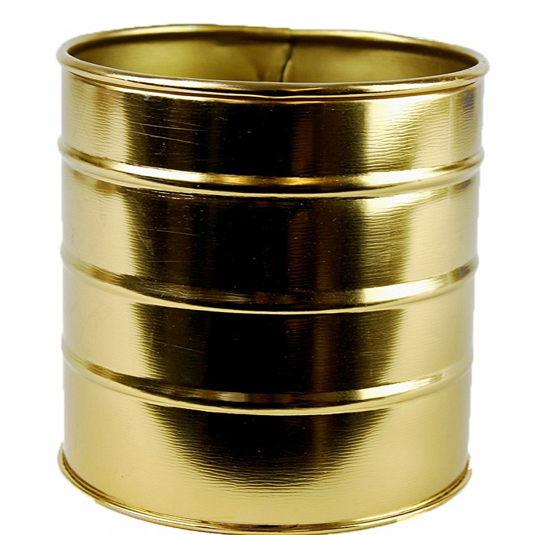 Round Metal Planter 11cm Gold