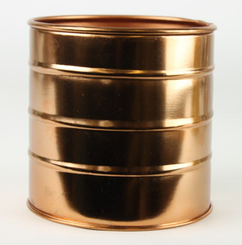 Round Metal Planter Rose Gold/ Copper 11cm