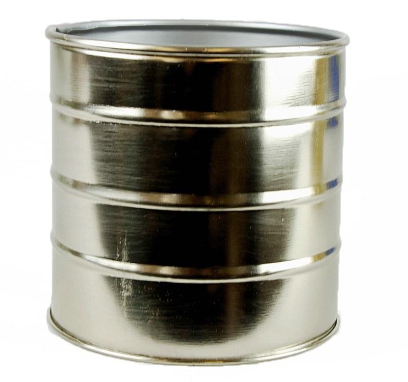 Round Metal Planter Silver 11cm