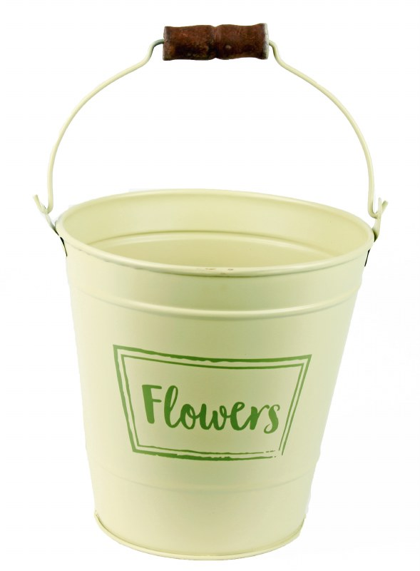 Metal Plant Pot 16cm Cream