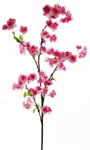 Artificial Cherry Blossom Stem 120cm Cerise