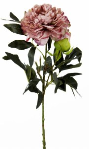 Artificial Peony Rose Flower 90cm Dusty Pink
