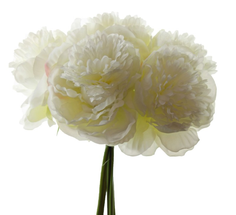 Artificial Peony Bundle Ivory  5 Stems
