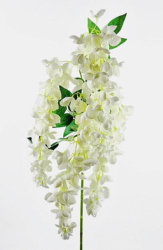 Artificial Wisteria/ Hanging Orchid Ivory 110cm