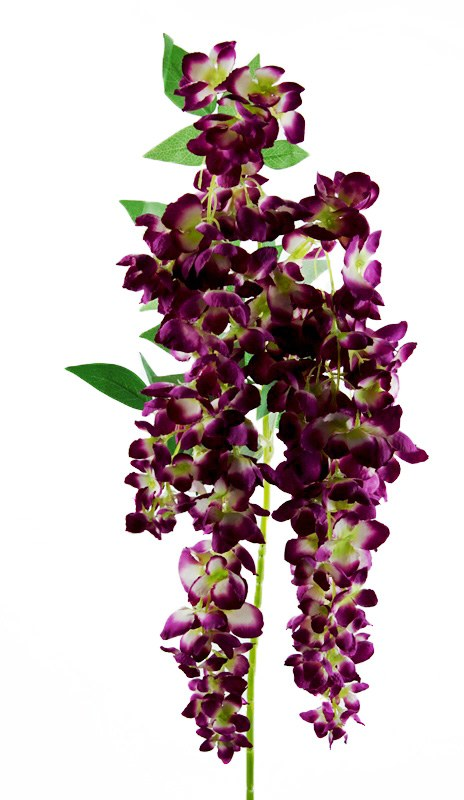 Artificial Wisteria/ Hanging Orchid Dark Purple 110cm