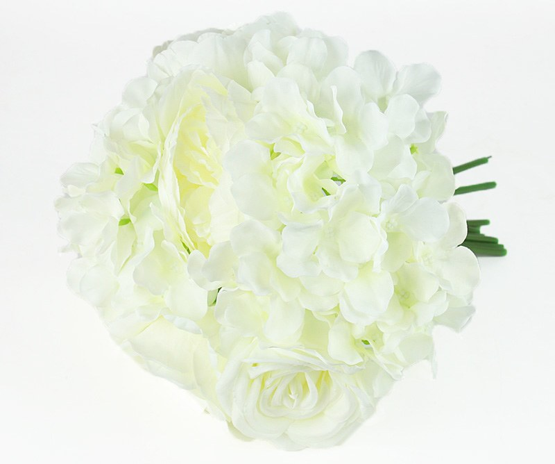 Artificial Rose, Hydrangea & Peony Bunch Ivory