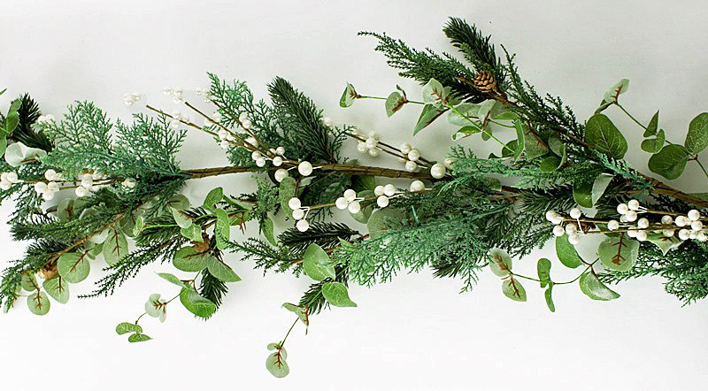 Christmas Garland Rustic Pearl Berry 5ft