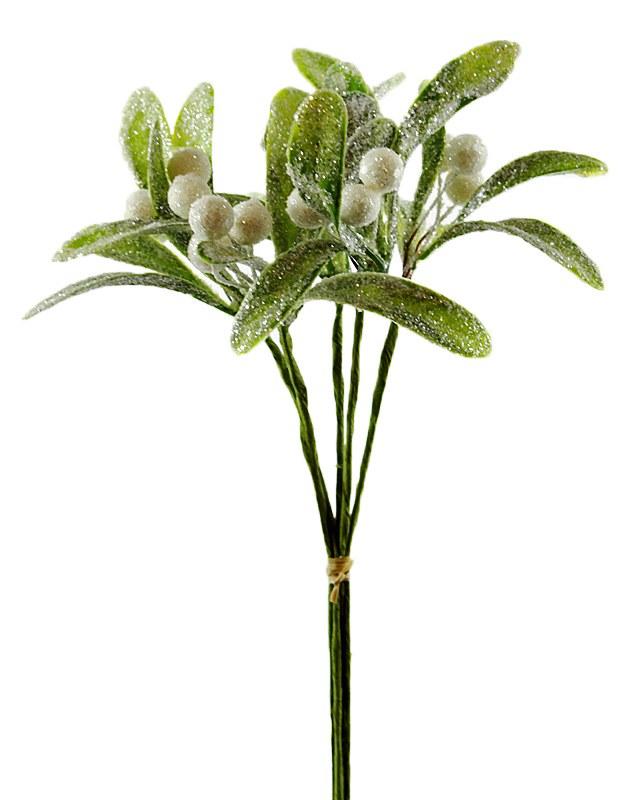 "Glitter Artificial Mistletoe Bundle 10"""
