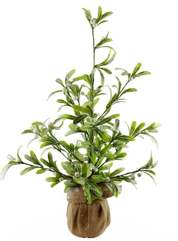 "Artificial Mistletoe Christmas Tree 24"""