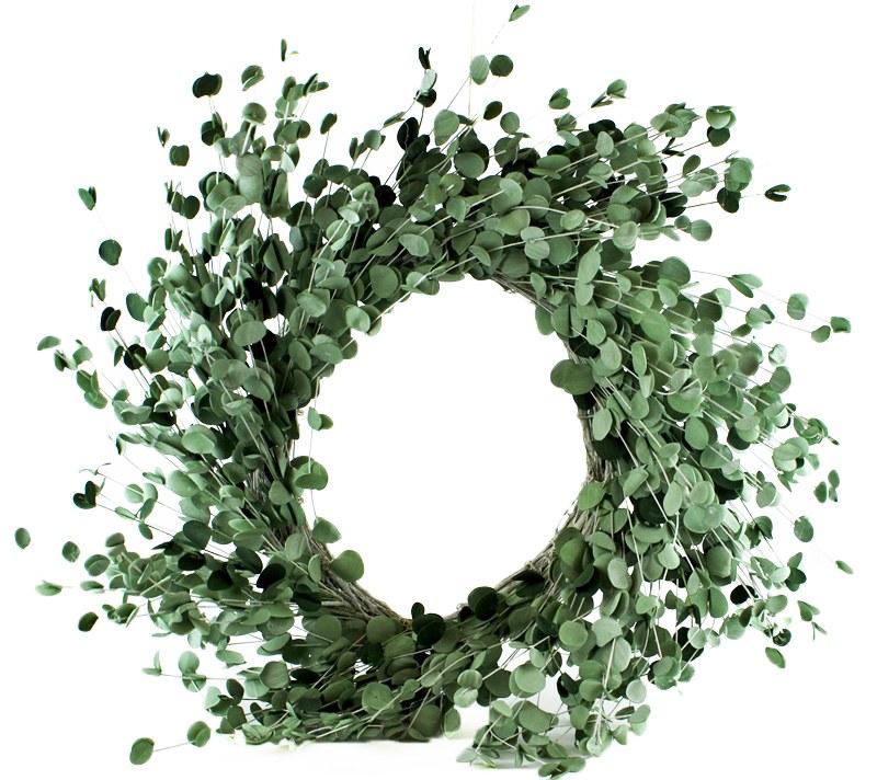 """Artificial Eucalyptus Wreath 30"""""""