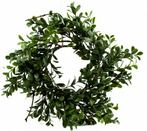 Artificial Boxwood Wreath 4.5""