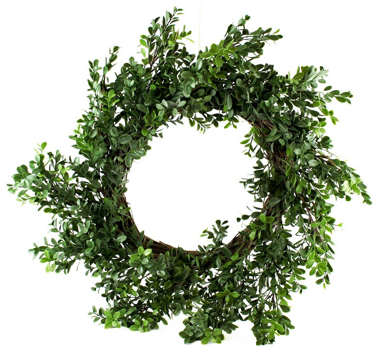 Artificial Boxwood Wreath 24""