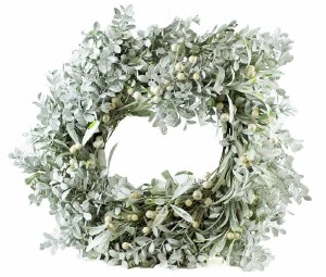"""Christmas Frosted Pearl Berry Wreath 20"""""""