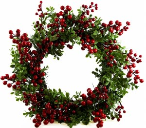 """Red Berry Christmas Wreath 18-20"""""""