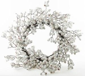 "White Berry Christmas Wreath 18-20"""