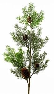 "Christmas Spruce Stem Green 34"""