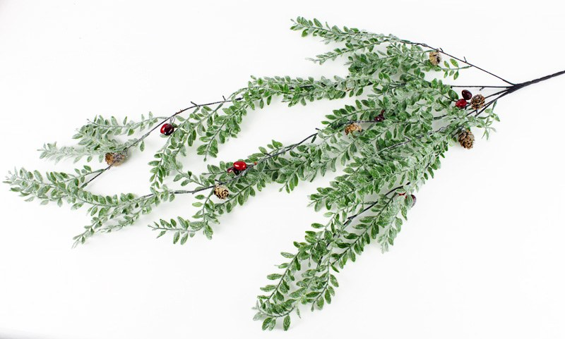 """Christmas Berry Frosted Glitter Tear Drop 36"""""""