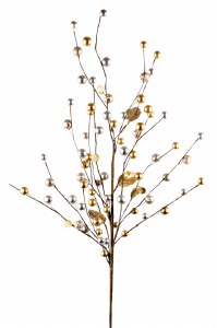 Gold Christmas Berry Branch 30""