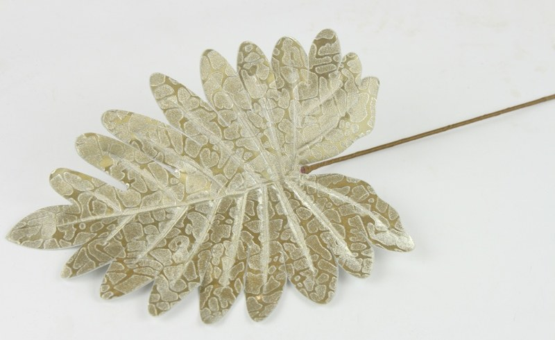 Christmas Artificial Leaf Pick 35cm Gold
