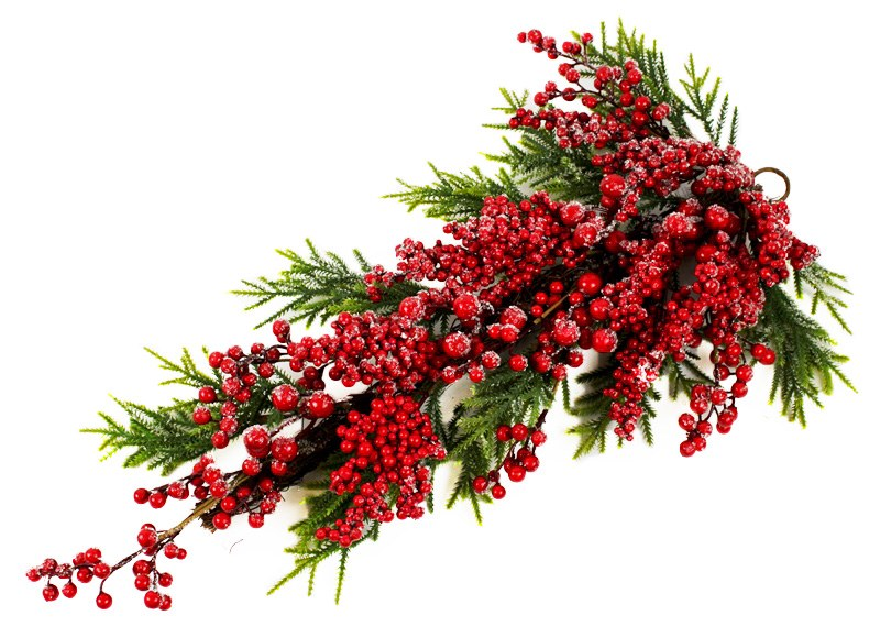 """Berry Frosted Christmas Teardrop 28"""""""
