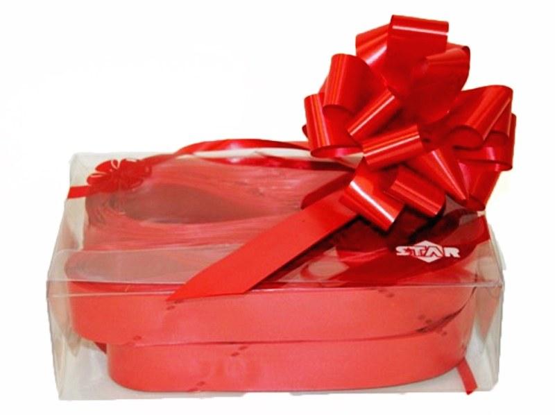 Box of 30 red 31mm ribbon pullbows-P00