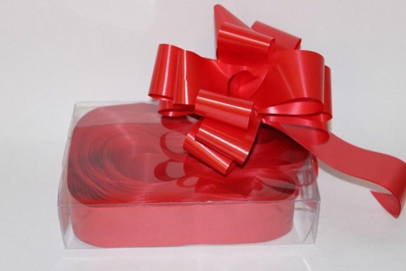 Box of 20 red 50mm ribbon pullbows-P00